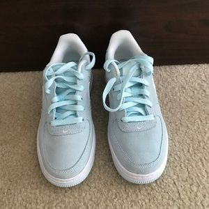 b6f5a1210f78 Nike Shoes - Nwt Nike Air Force 1 light blue suede sneakers